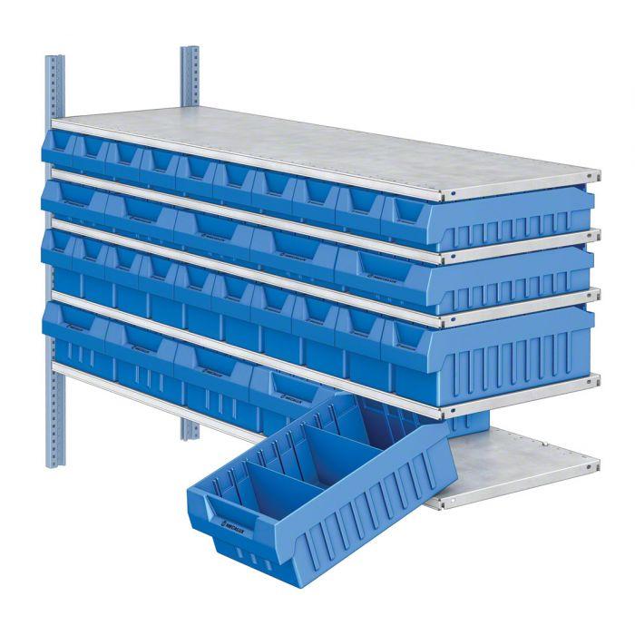 set de cajas plástico estantería M3