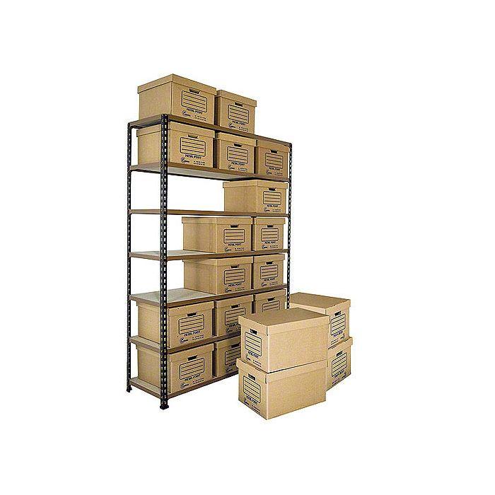 cajas de almacenaje en estantería