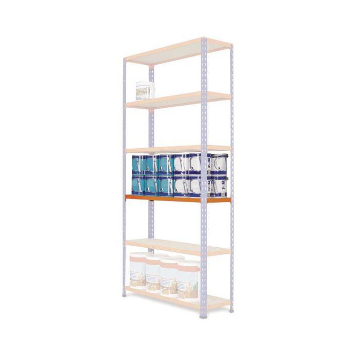 estante estantería MP2 azul-naranja cargas medias